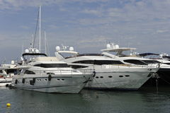 Motor Yachts Royalty Free Stock Photo