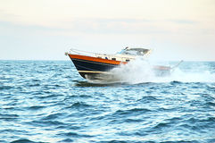 Motor yatch Royalty Free Stock Images