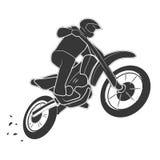 Motoracer on motorbike vector illustration Royalty Free Stock Image