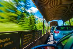 Motorail Trip in Switzerland Royalty Free Stock Photo
