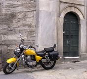 Motorbike. New meets old, Istanbul, Turkey Stock Images