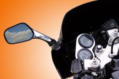 Motorbike. Detail stock photography