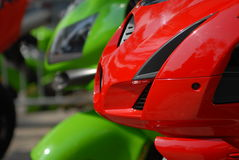 Motorbike. A motorbike close up view, colors and lighting Royalty Free Stock Images