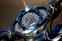 Motorbike. Great motorbike chrome details (close-up shot Stock Photo