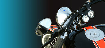 Motorbike. On a colored background. No logo shown stock images