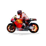 Motorbike, abstract geometric vector silhouette Royalty Free Stock Images