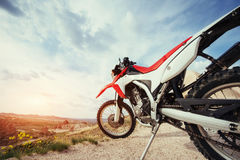 Motorbike. bike outdoors on background. Royalty Free Stock Images