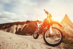 Motorbike. bike outdoors on background. Royalty Free Stock Image