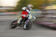 Motorbike blurred motion Royalty Free Stock Photo