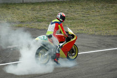 Motorbike burnout Royalty Free Stock Image