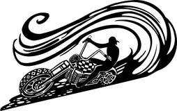 Motorbike, Chopper - Vector illustration. Royalty Free Stock Photo