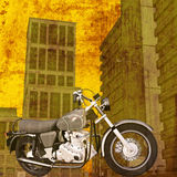 Motorbike City Royalty Free Stock Images
