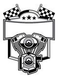Motorbike club badge. Vector of motorbike club badge Stock Photo