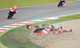 Motorbike crash Royalty Free Stock Photos