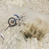 Motorbike Crash Hillside stock image