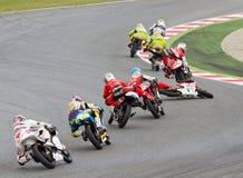 Motorbike crash Stock Photos