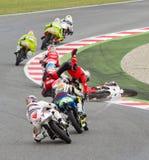 Motorbike crash Royalty Free Stock Image