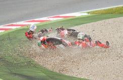 Motorbike crash Stock Image