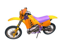 Motorbike cross-country. Image computer, motor bike cross-country  3D isolated white background Royalty Free Stock Photo
