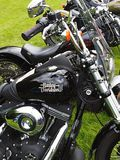 Motorbike detail shot,close up - Harley-Davidson. Harley-Davidson Motor Company is an American motorcycle manufacturer based in Milwaukee, Wisconsin. It is one royalty free stock image