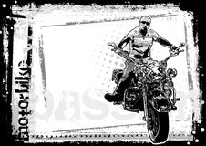 Motorbike dirty background horizontal Stock Photography