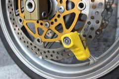 Motorbike Disc Brake Lock Stock Photo