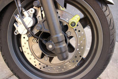 Motorbike Disc Brake Lock Royalty Free Stock Photos