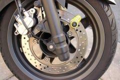 Motorbike Disc Brake Lock Royalty Free Stock Photos