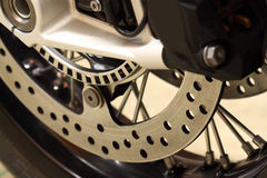 Motorbike disk brakes wheel B Royalty Free Stock Photography