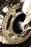 Motorbike disk brakes wheel A Royalty Free Stock Photos