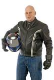 Motorbike driver Stock Photo