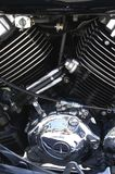 Motorbike engine. Close up of a motorbike engine royalty free stock photo