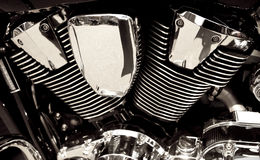 Motorbike engine Royalty Free Stock Photos