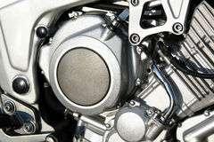 Motorbike engine closeup Royalty Free Stock Images