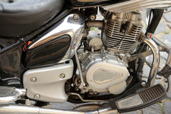Motorbike engine closeup Stock Photography