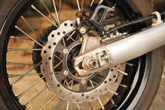 Motorbike engine disk brake Royalty Free Stock Photography