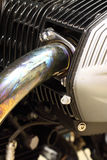 Motorbike engine exhaust B Royalty Free Stock Photo
