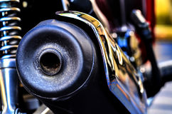 Motorbike Exhaust Royalty Free Stock Photography