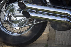 Motorbike exhaust pipes Royalty Free Stock Photo