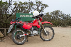 Motorbike in Fray Jorge national park Royalty Free Stock Photo