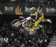 Motorbike freestyle rider Stock Photography