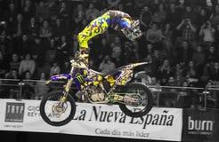 Motorbike freestyle rider Royalty Free Stock Photo