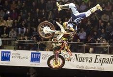 Motorbike freestyle rider Stock Photo