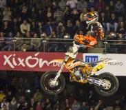 Motorbike freestyle rider Royalty Free Stock Images