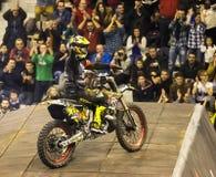 Motorbike freestyle rider Stock Images