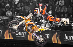 Motorbike freestyle rider Royalty Free Stock Image