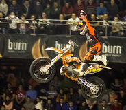 Motorbike freestyle rider Stock Image
