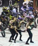 Motorbike freestyle show Stock Image