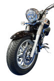 Motorbike. Front view of a motorbike Royalty Free Stock Photography