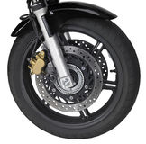 Motorbike front wheel Royalty Free Stock Photography